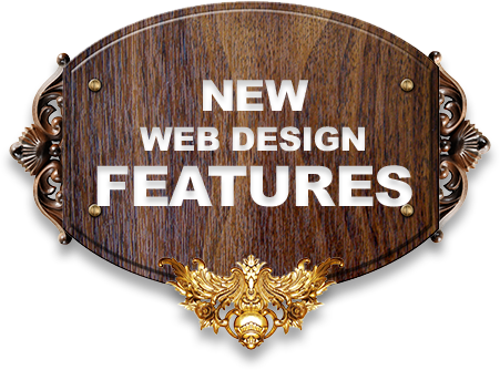NEW WEB DESIGN FEATURES